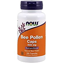 NOW Bee Pollen 500 mg,100 Capsules