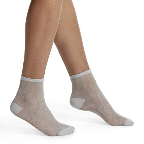 HUE Women's Fashion Shortie Anklet Socks, Assorted, White - sheer, One Size ()