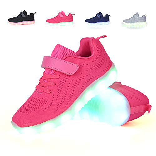 adituob Breathable LED Light up Shoes Luminous Flashing Sneakers for Boys...