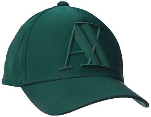 Armani Exchange Men's A|X Logo Hat, Evergreen, One Size