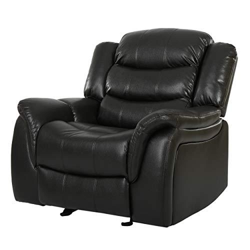 great deal furniture merit black leather recliner glider chair buy rh desertcart ae black leather recliner sofa set black leather recliner ashley furniture