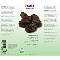 NOW Organic Jojoba Oil, 8 oz