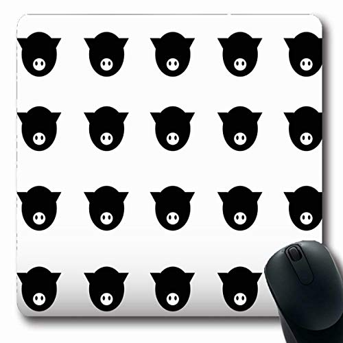 LifeCO Computer Mousepads Pets Pink Markings Pig Eye Head Child Farm Domestic Nose Animated Anthropomorphic Smiley Design Fun Oblong Shape 7.9 x 9.5 Inches Oblong Gaming Mouse Pad Non-Slip Rubber