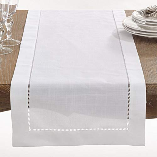 Fennco Styles Rochester Collection with Hemstitched Border Table Runner (16''x72'') by fenncostyles.com
