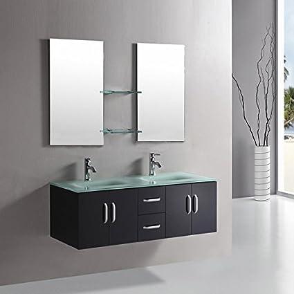 Mobile bagno ICE arredo bagno arredobagno 150 cm nero laccato mobile ...