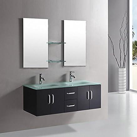 Mobile bagno ICE arredo bagno arredobagno 150 cm nero laccato ...