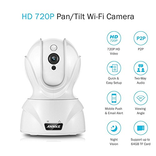 Annke HD Smart Wireless Camera Pan Tilt Camera Plug and Play P2P Remote Access Two Way Audio For Sale
