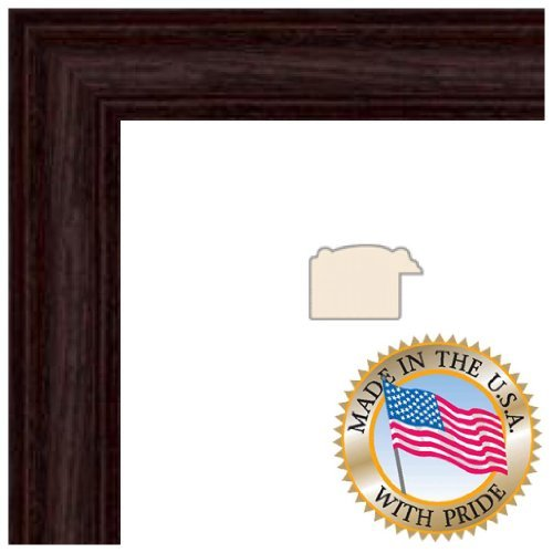 ArtToFrames 19x21 inch Cherry stain on Solid Red Oak Wood Picture Frame, 2WOM0066-59504-YCHY-19x21