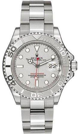 Rolex 16622 Oyster Perpetual Yacht-Master Acero Con platino Reloj para hombre plata Dial Oyster Perpetual calendario Zafiro Número de serie Certificado: ...