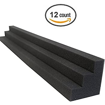Column Acoustic Wedge Studio Foam Corner Block Finish Corner Wall in Studios or Home Theater (12 Pack)
