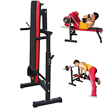 Homgrace Adjustable Olympic Weight Bench with Leg Developer Barbell Squat Rack for Weight Lifting Strength Training Full Body Workout Exercise Equipment