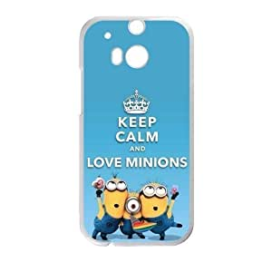 Hoomin Keep Calm and Love Minions Despicable Me HTC One M8 Cell Phone Cases Cover Popular Gifts(Laster Technology)