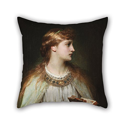 MaSoyy Oil Painting Thomas Francis Dicksee - Ophelia Pillow Cases 16 X 16 Inches / 40 by 40 cm Best Choice for Family Teens Boys Home Theater Bedding Bar Seat with 2 Sides]()