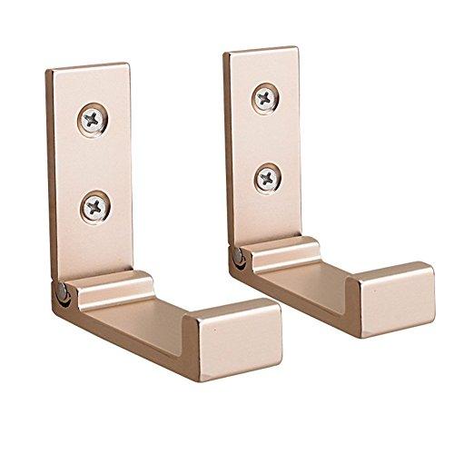 ROOS Flip Space aluminum Wall Hook Folding Hook Pack of 2 (Gold) (Flip Hook)