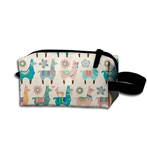 Price comparison product image Watching The Cooler Storage Bag Travel Bag Vintage Llama Fun Cosmetic Bag Portable Travel Makeup Bag