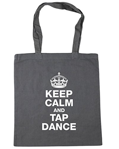 HippoWarehouse Gym and Tote Bag calm tap litres Beach Keep 42cm Grey dance Shopping Graphite x38cm 10 rEqBr04wx
