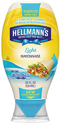 Hellmann's, Light Mayonnaise, Squeeze Bottle, 22 oz (pack of 4)