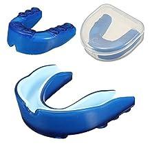 Blue Gum Shield Teeth Protector Mouthguard Piece For Basketball Boxing Taekwondo