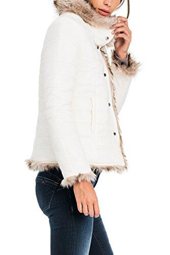 avec Salsa fourrure rversible Manteau Perle Femme 6OwPgq