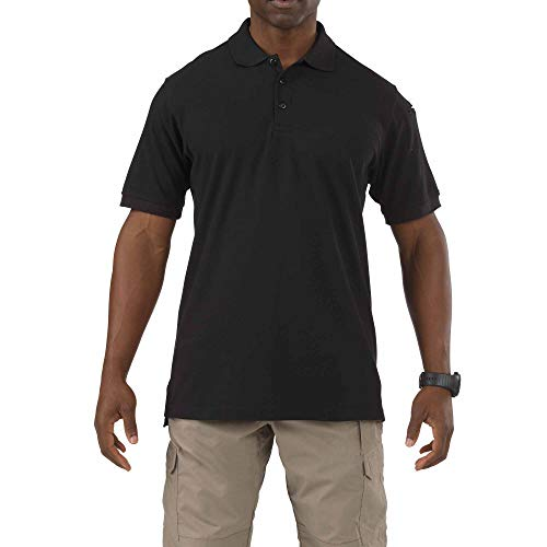 (5.11 Tactical Men's Utility Polo Short-Sleeve Shirt, Shrink, Wrinkle and Fade Resistant, Style 41180)