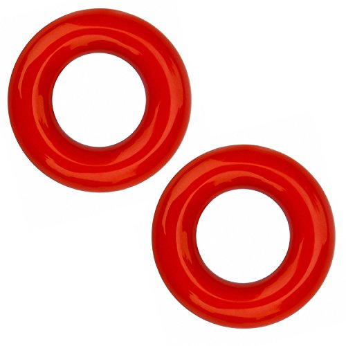 Elemart Golf Weighted Swing Ring - 2 PCS Golf Club Warm Up Swing Donut Weight Ring Diver for Practice & Training (Red)