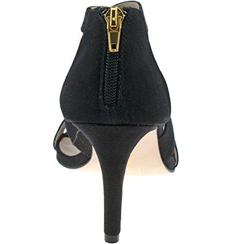Microfibre Black En Noir Femme Pour Lotus Laiton Stilettos xqgvaa