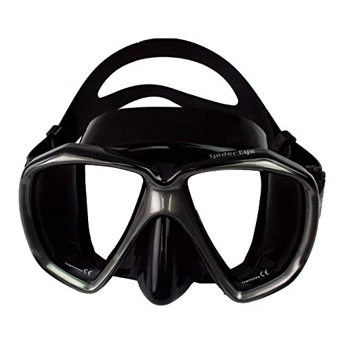 Scuba Max MK-103 Spider Eye Scuba Dive Mask (Black/Silver) ()