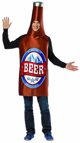 Rasta Imposta Beer Bottle Adult, Brown, One Size ()