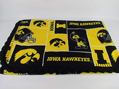 University of Iowa Hawkeyes Fleece Baby Blanket ()