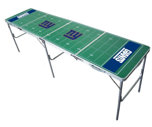 New York Giants 2x8 Tailgate Table by Wild (Sports Fan Tailgate Table)