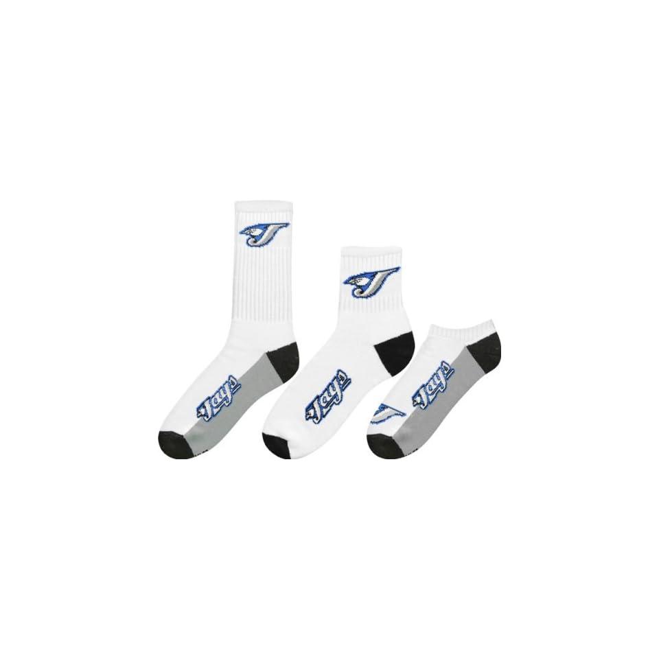 Toronto Blue Jays Mens 3 Pair Sock Pack