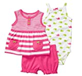 Carter's Baby Girl's Oh-So-Fun 3-Piece Set - Stripes & Whales