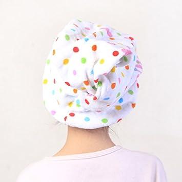 Punti Bianchi Gifts Treat Asciugamano Avvolgente per Capelli Turbante per asciugare i Capelli dei Bambini Asciugatura per Capelli Assorbente Adorabile