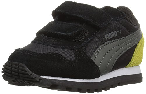 PUMA Baby ST Runner NL V, Black-Dark Shadow, 7 M US Toddler (Icon Puma)
