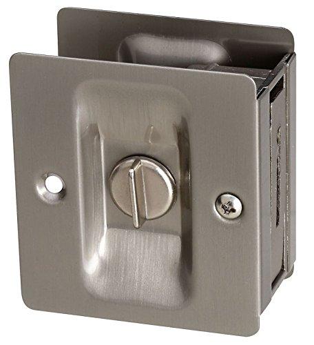 Stanley National S837-567 Stanley Hardware 83-7567 Pocket Door Latch - Satin Nickel
