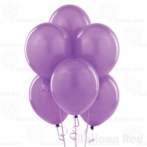 10 Inch Latex Balloons (Premium Helium Quality), Pack of 100, (D W Costumes)