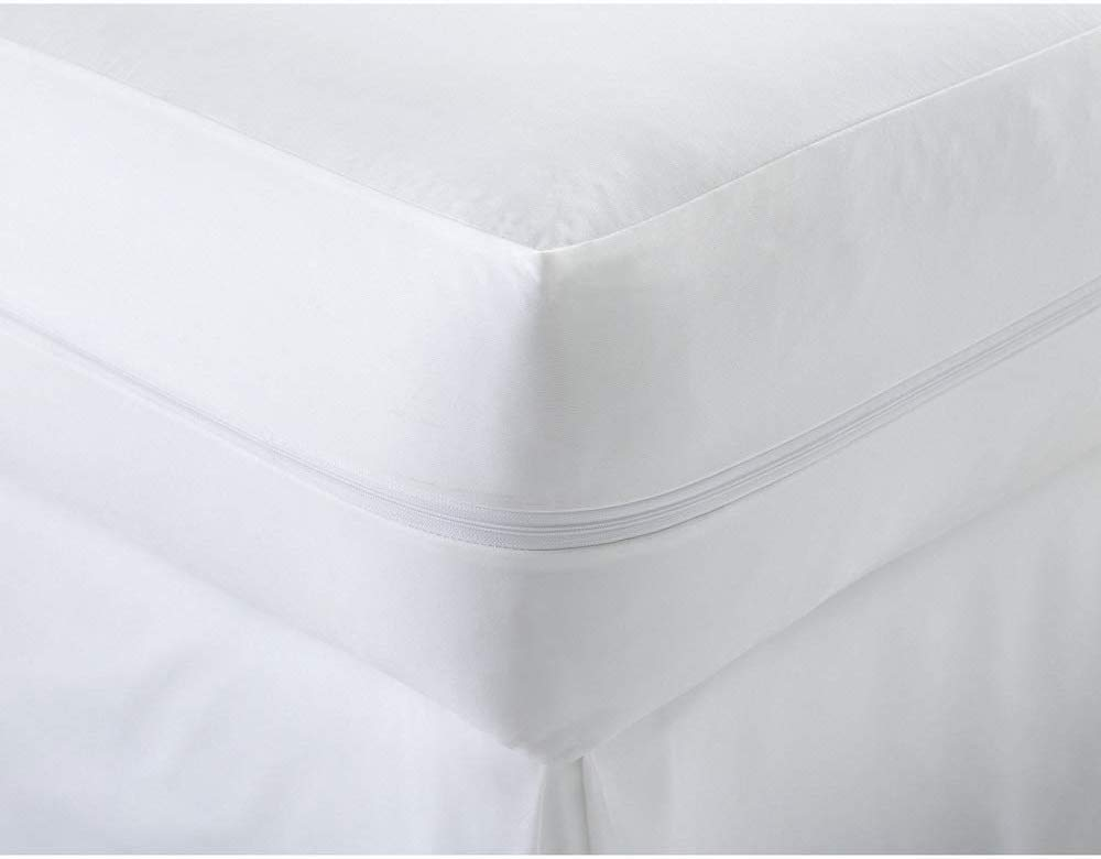 Waterproof Mattress Protector Zippered Encasement Anti Bed Bug And Dust Mite