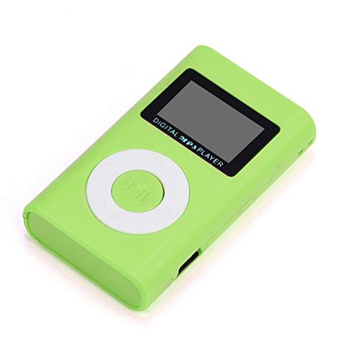 Junshion USB Mini MP3 Player LCD Screen Support Micro SD TF Card, Expandable Up to 32GB