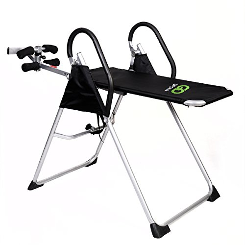 Inversion Table Deluxe Fitness Chiropractic Table Back Pain Relief Exercise TKT 11
