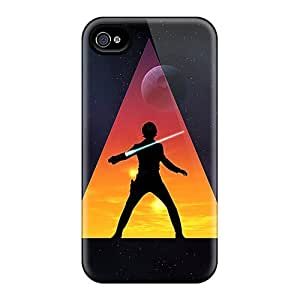 DpE1847ONGo Winvin Star Wars Jedi Durable Iphone 4/4s Flexible Soft Case