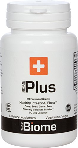 Biome Plus Probiotic 50 billion CFU - 10 Clinically-backed Strains - Supports Microbiome and Immune Health - ThinkBiome