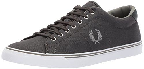 Fred Perry Mens Underspin Canvas Fashion Sneaker Carboncino