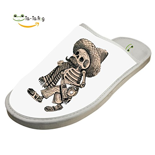Shoes Skull Indoor Slippers Beggar White ZeZe Slippers Cotton Slippers House Flat 01d1x4n8