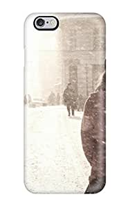 Barbara Gorman Design High Quality Street In December Snow Snowing People Snowflakes Kids Jackets Dresses Shoes Vacations Season Coats Nature Winter Cover Case With Excellent Style For Iphone 6 Plus