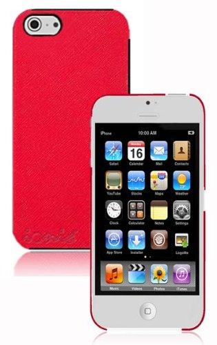 Lthr Hard Case - COD(TM) ACCENT Leather Case for New Apple iPhone 5 Apple iPhone 5S (ATT, T-Mobile, Sprint, Verizon) (Red)
