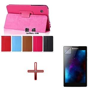 "XMY Colour Brown Folio Stand Dock Holder Case Cover cubierta de la caja +Film por 7"" Lenovo Tab2 A7-30TC/HC Tablet new"