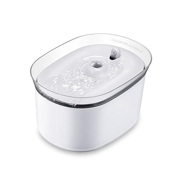 HoneyGuaridan-W25-dispensador-Silencia-Fuente-de-Agua-Automtica-Inteligente-con-Sensor-de-Infrarrojosbebederos-mascotasFuentes-para-Perros-y-Gatos-Pack-de-2-Filtros-de-Carbn