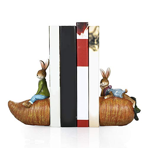 hy Classic Originality Rabbit Design Resin Bookends, used for sale  Delivered anywhere in USA