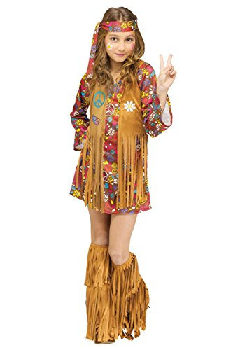 Big Girls' Peace & Love Hippie Costume - XL ()