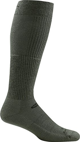Darn Tough Tactical Over-The-Calf Boot Light Cushion Socks ( T3006 ) Unisex – (Foliage Green, (Over Mesh)